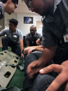 Becoming an EMT in Texas requires students to demonstrate competency in Psychomotor skills.